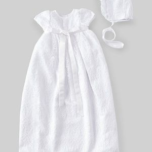 Pippa & Jane Baby Lace Christening/Baptism Gown